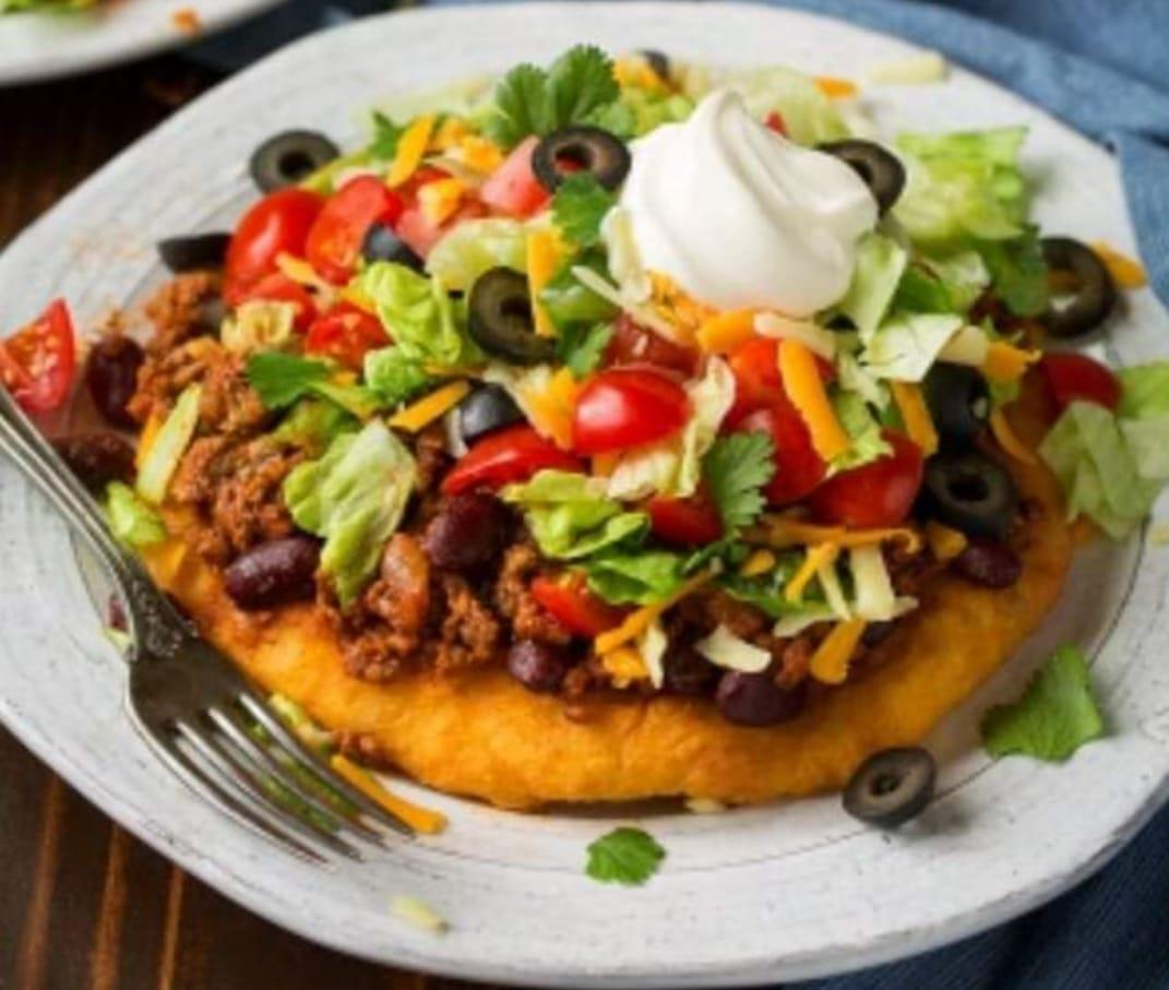 A Picture of a Navajo Taco.